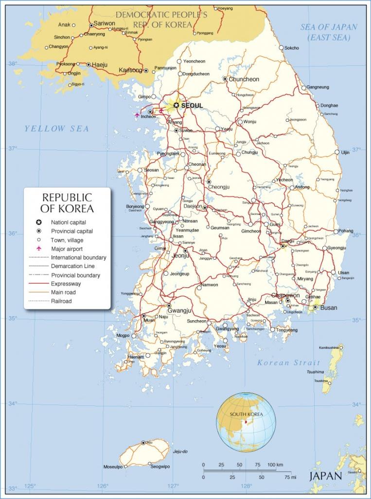 South Korea Maps   Printable Maps Of South Korea For Download - Printable Map Of Korea
