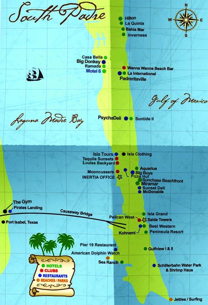 South Padre Island Map | South Padre Island Hotels South Padre - Padre Island Texas Map