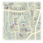 South Slope Breweries Locator Map     Printable Map Of Downtown Asheville Nc