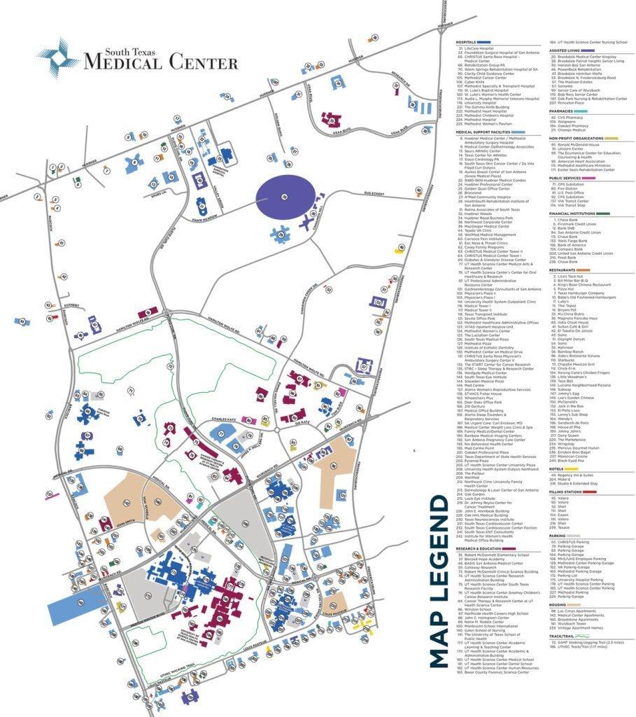 South Texas Medical Center Brochure & Map • Advertising & Marketing - Texas Medical Center Map