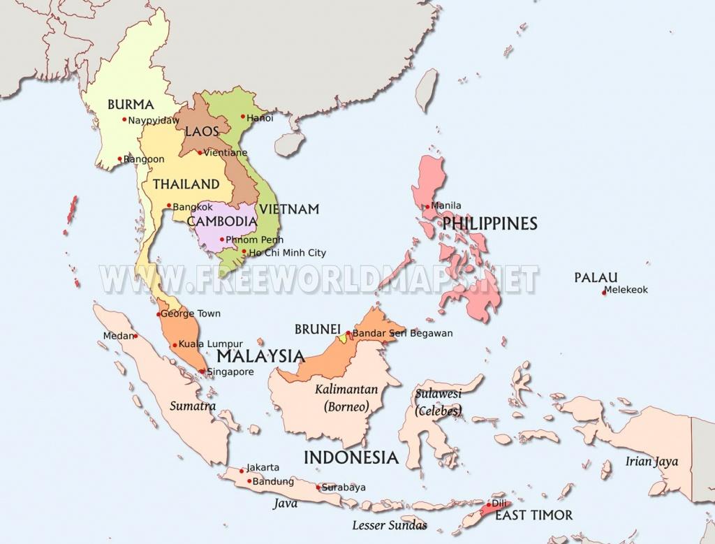 Southeast Asia Maps - Printable Map Of Southeast Asia