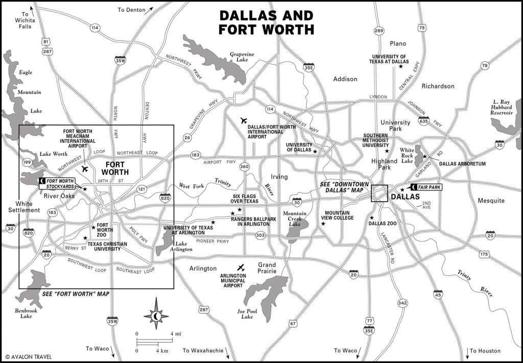 Southwest And Texas Travel Maps Including Dallas, Fort Worth, And - Printable Map Of Fort Worth Texas