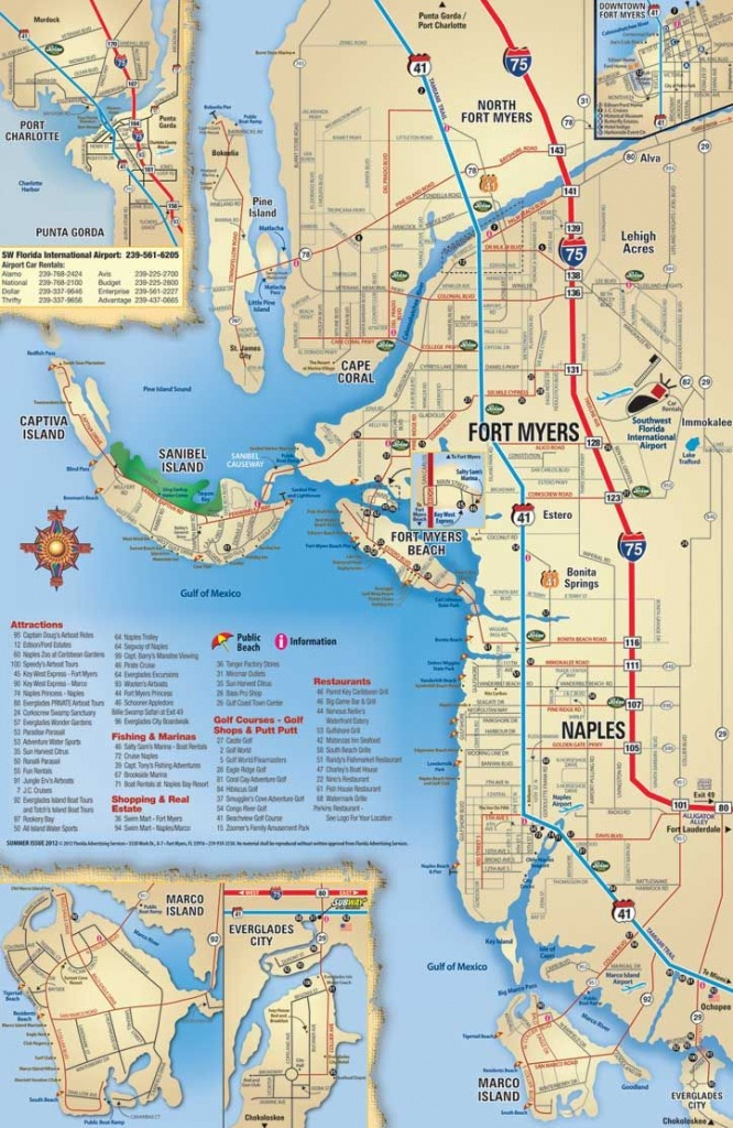 Southwest Florida Map, Attractions And Things To Do, Coupons - Map Of Sw Florida