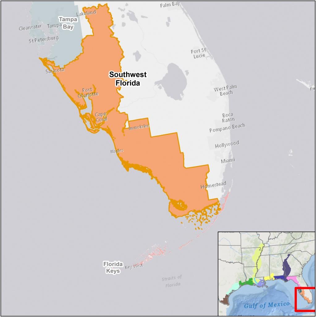 Southwest Florida | U.s. Fish & Wildlife Service - Florida Snake Problem Map