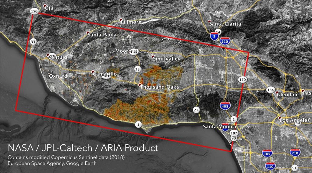 Space Images   Nasa's Aria Maps California Fire Damage - California Fire Damage Map