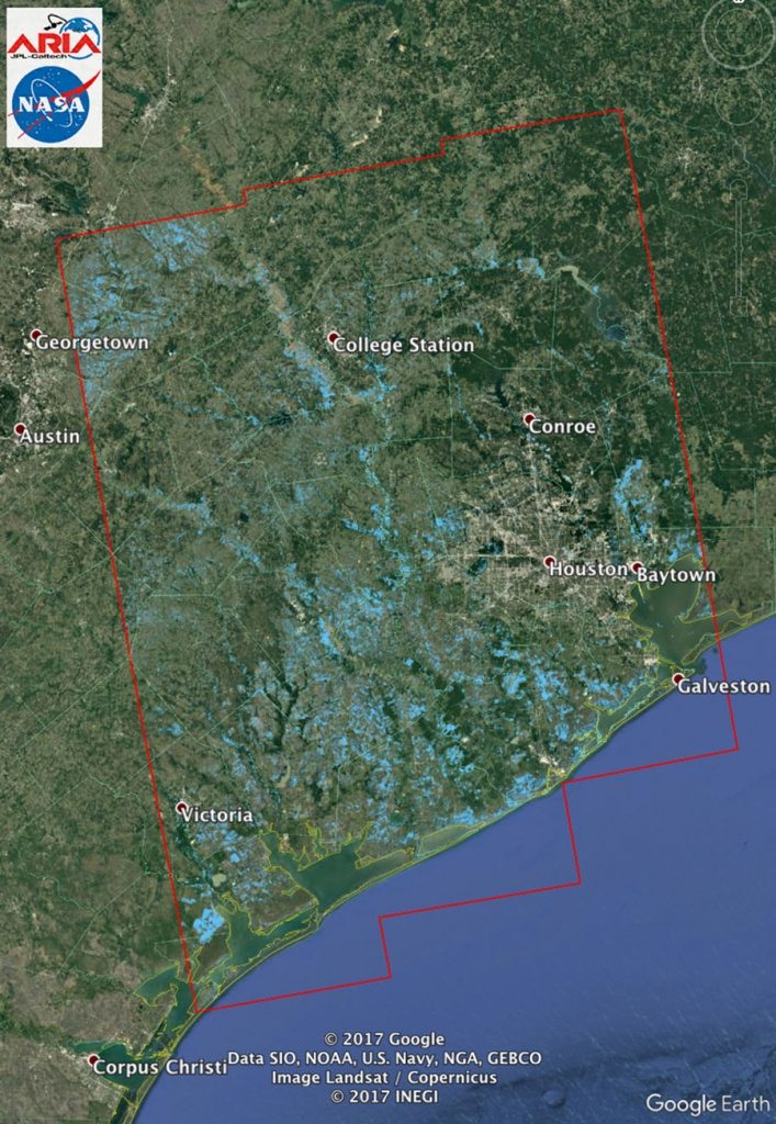 Space Images | New Nasa Satellite Flood Map Of Southeastern Texas - Map Of Flooded Areas In Texas
