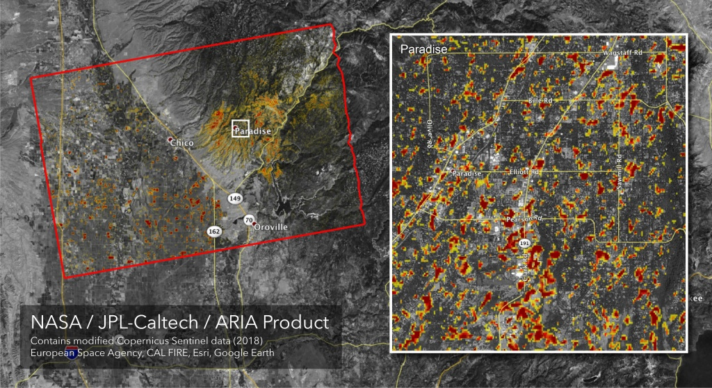 Space Images | Updated Aria Map Of Ca Camp Fire Damage - California Fire Damage Map