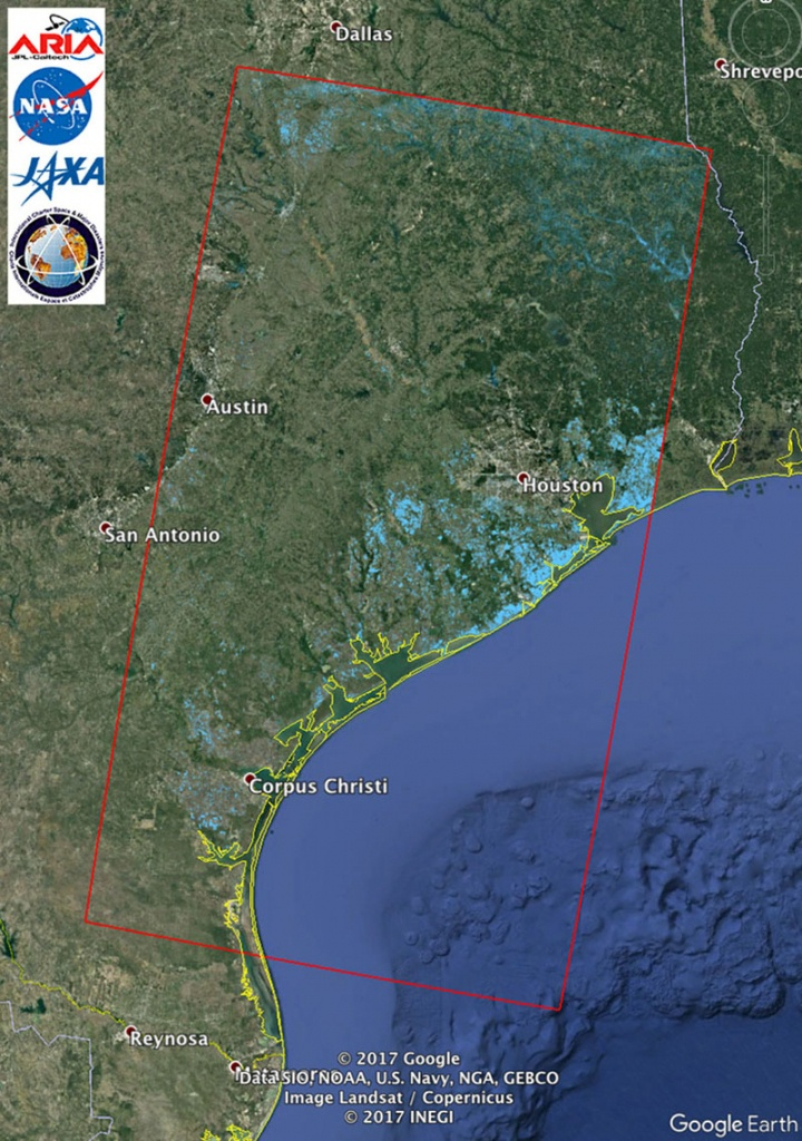 Space Images | Updated Nasa Satellite Flood Map Of Southeastern - Google Earth Texas Map