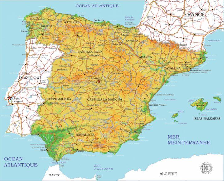 Printable Map Of Spain