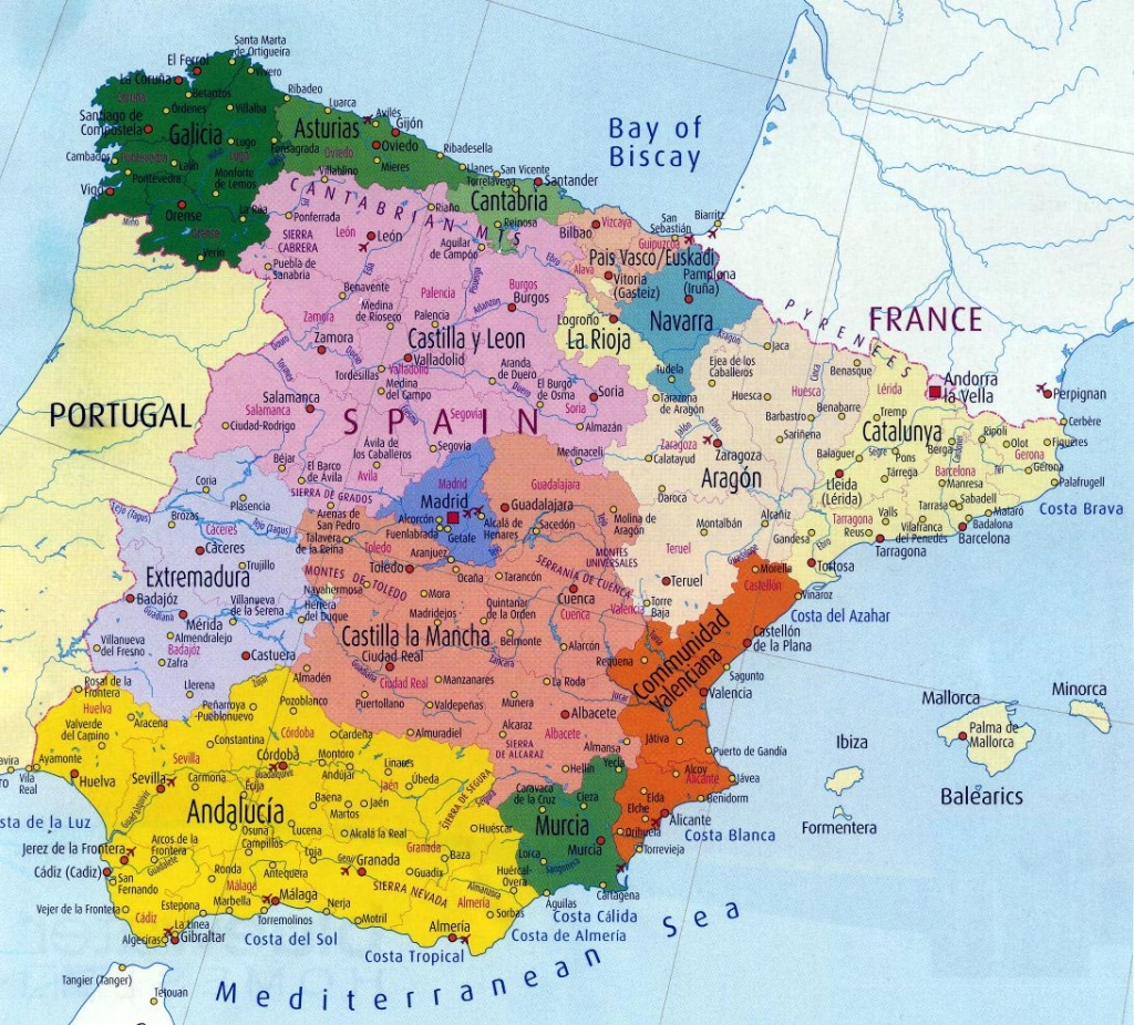 Spain Maps | Printable Maps Of Spain For Download - Printable Map Of Spain With Cities