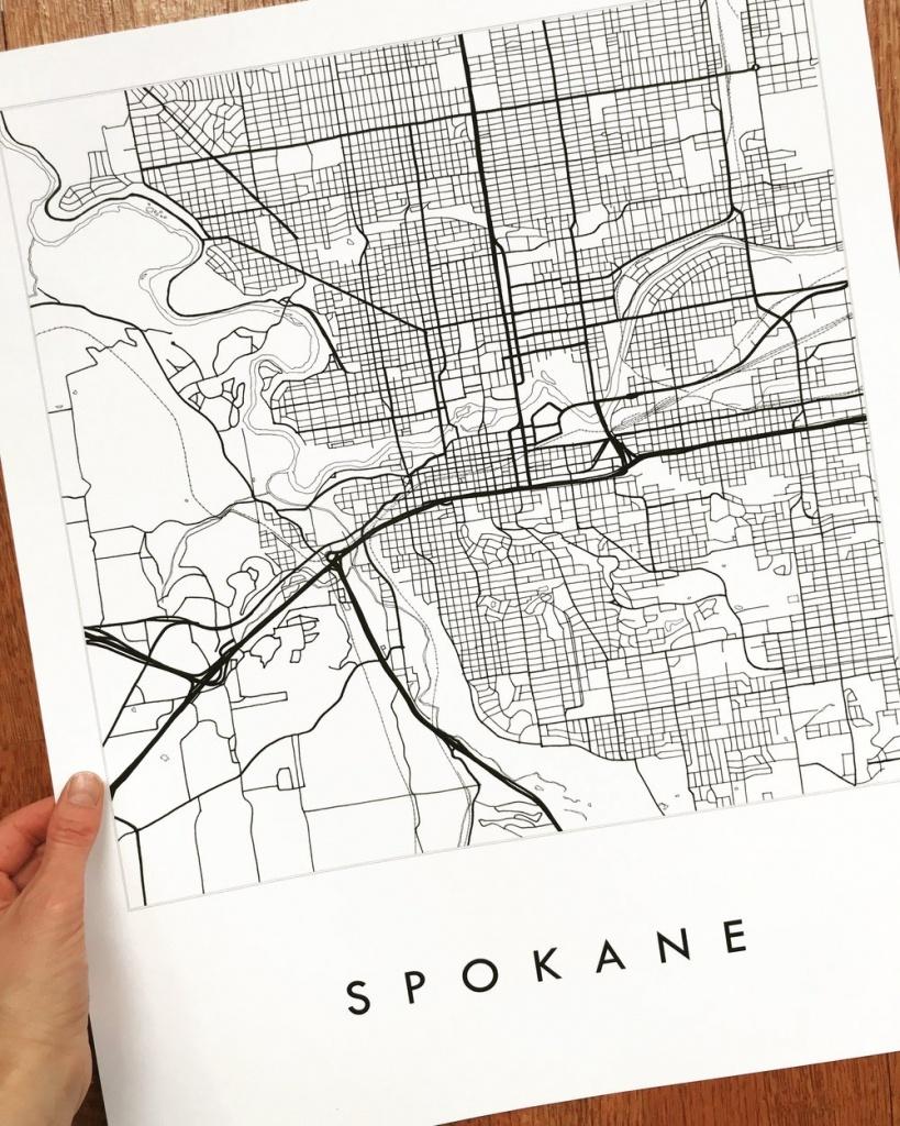 Spokane City Lines Map: Print — Turn-Of-The-Centuries - Downtown Spokane Map Printable