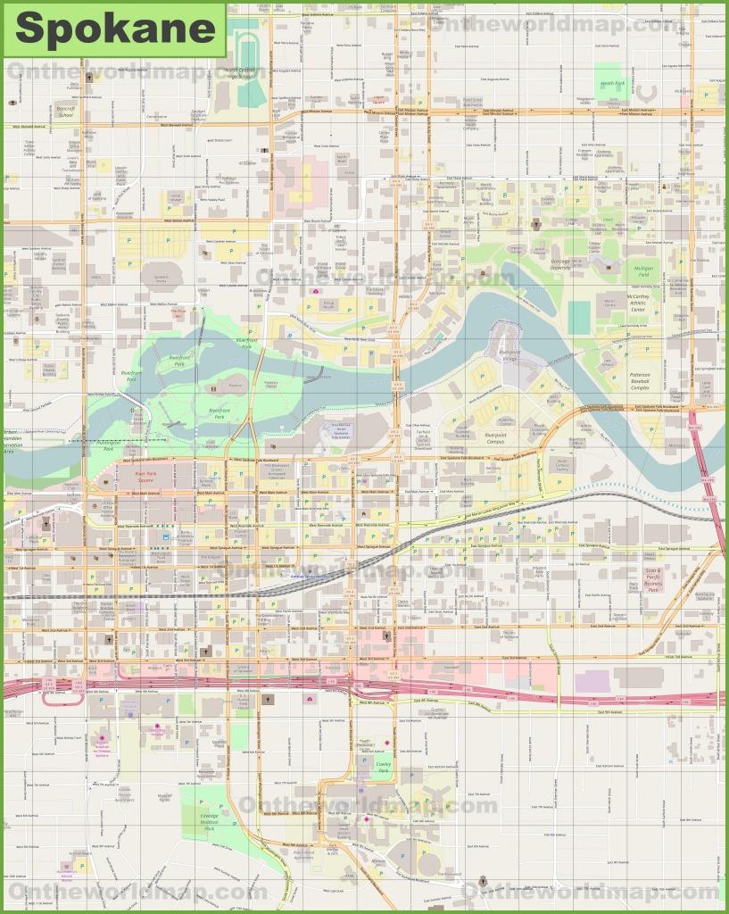 Spokane Downtown Map - Downtown Spokane Map Printable