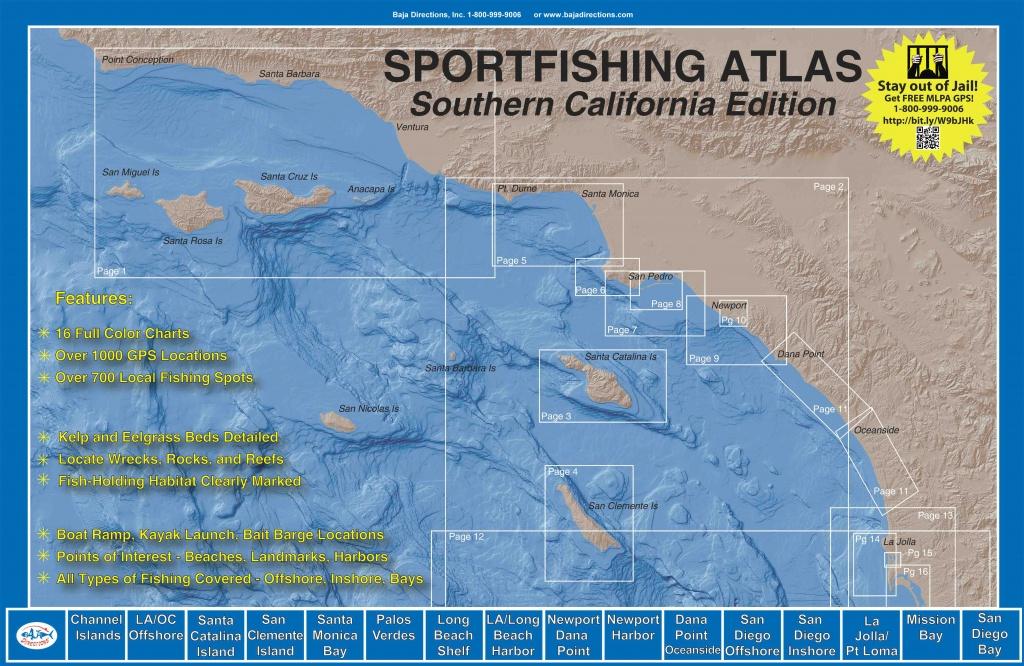 Sportfishing Atlas Southern California Edition - Baja Directions - Southern California Fishing Spots Map