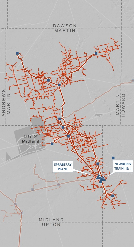 Spraberry/newberry Processing Complex | Navitas Midstream - Oneok Pipeline Map Texas