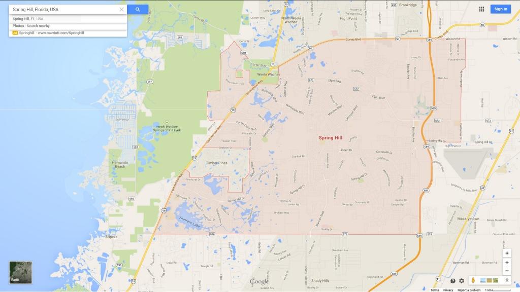 Spring Hill, Florida Map - Spring Hill Florida Map