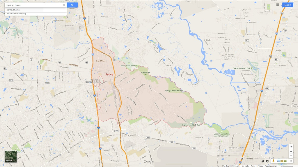 Spring Texas Map - Google Maps Harlingen Texas