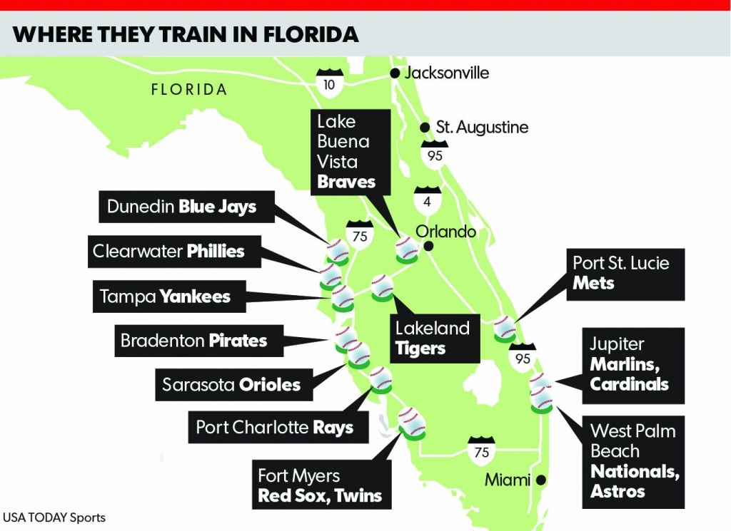 Spring Training 2018 Florida Map | Time Zones Map - Map Of Spring Training Sites In Florida