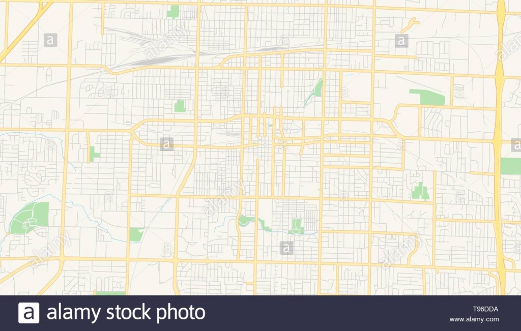 Springfield Missouri Stock Photos & Springfield Missouri Stock - Printable Map Of Springfield Mo