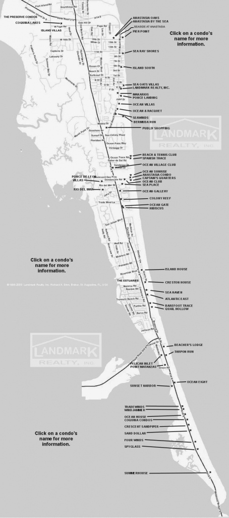 St Augustine Fl Real Estate Investment Condominium Map - Map Of Crescent Beach Florida