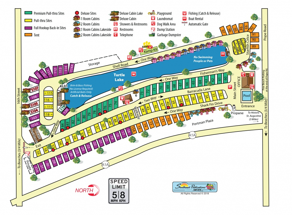 St Augustine, Florida Campground | St. Augustine Beach Koa - Map Of Koa Campgrounds In Florida