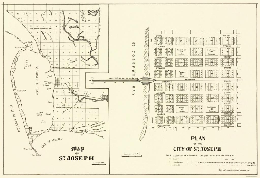 St. Joseph Florida Planning - Throop 1837 - 23 X 33.52 - St Joe Florida Map