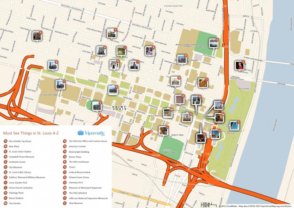 St. Louis Printable Tourist Map In 2019 | Missouri | St Louis - Forest Park St Louis Map Printable
