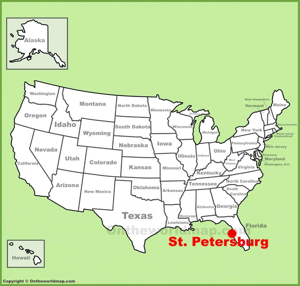 St. Petersburg Maps | Florida, U.s. | Maps Of St. Petersburg - Map Of St Petersburg Florida Area