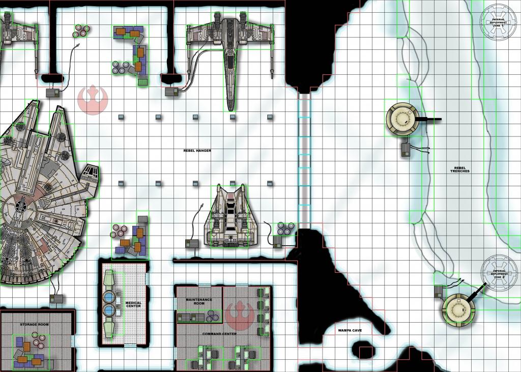 Star Wars Miniatures Scenarios - Star Wars Miniatures Printable Maps