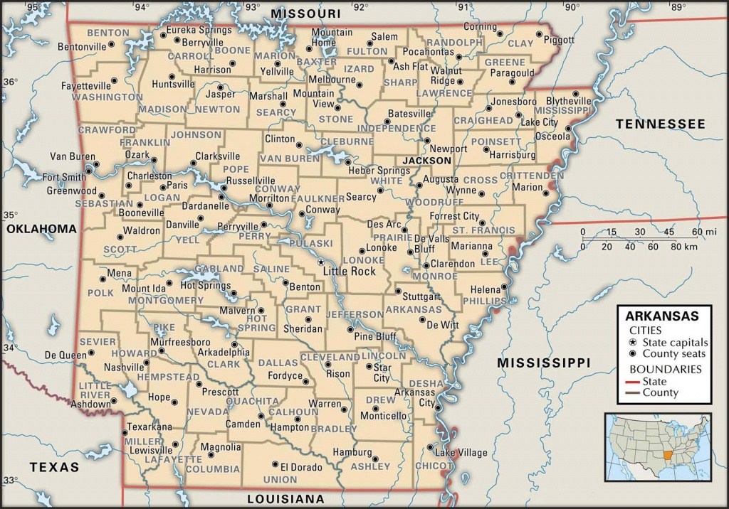 State And County Maps Of Arkansas - Map Of Texas And Arkansas
