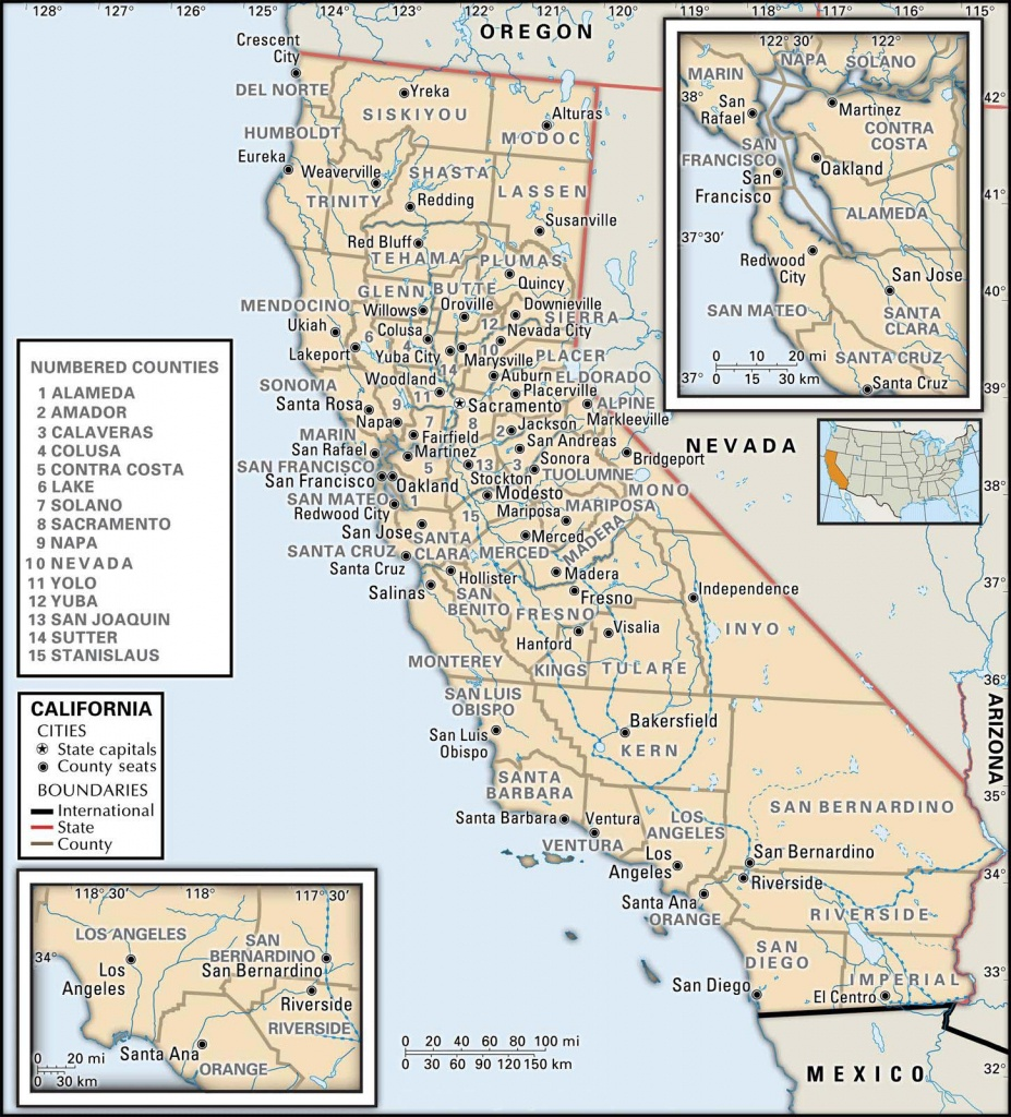 State And County Maps Of California - Show Me A Map Of California