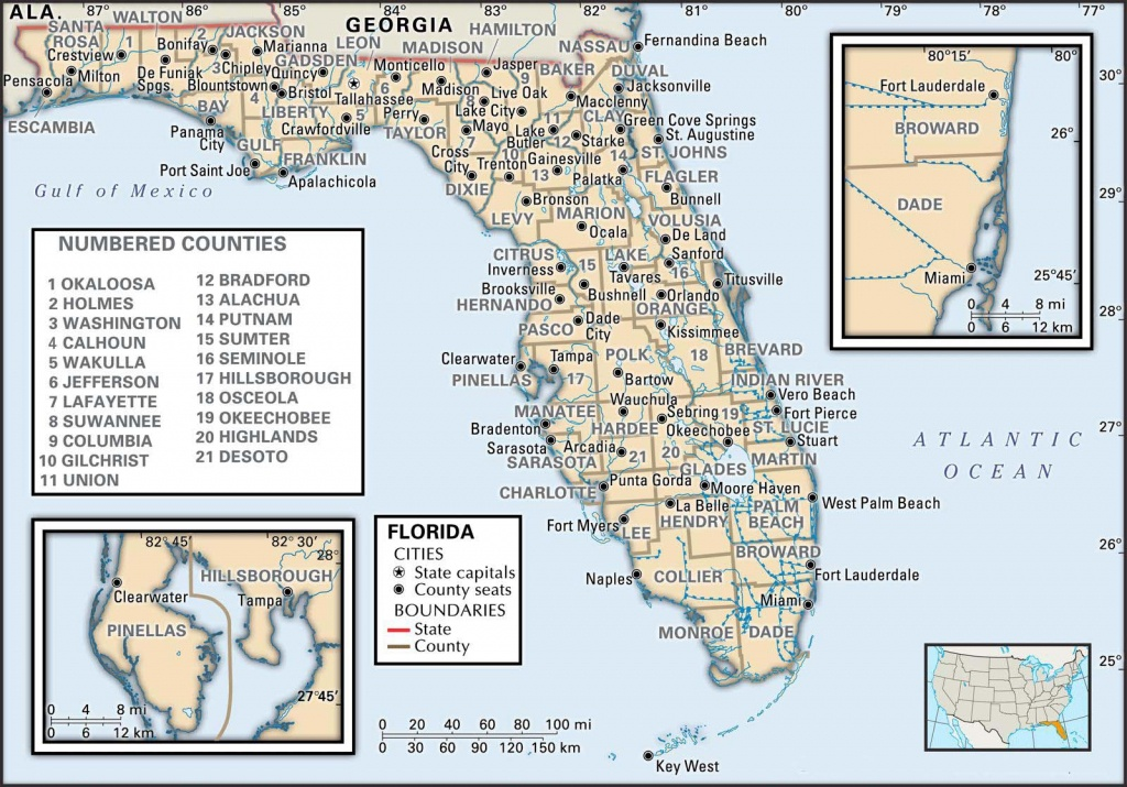 State And County Maps Of Florida - Pembroke Pines Florida Map