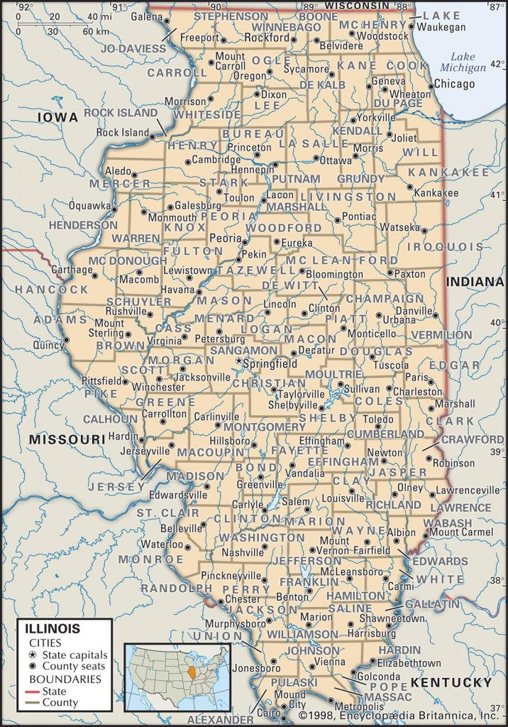 State And County Maps Of Illinois - Illinois State Map Printable