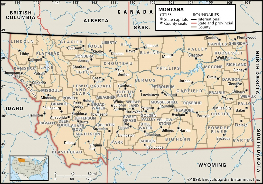 State And County Maps Of Montana - Printable Missoula Map