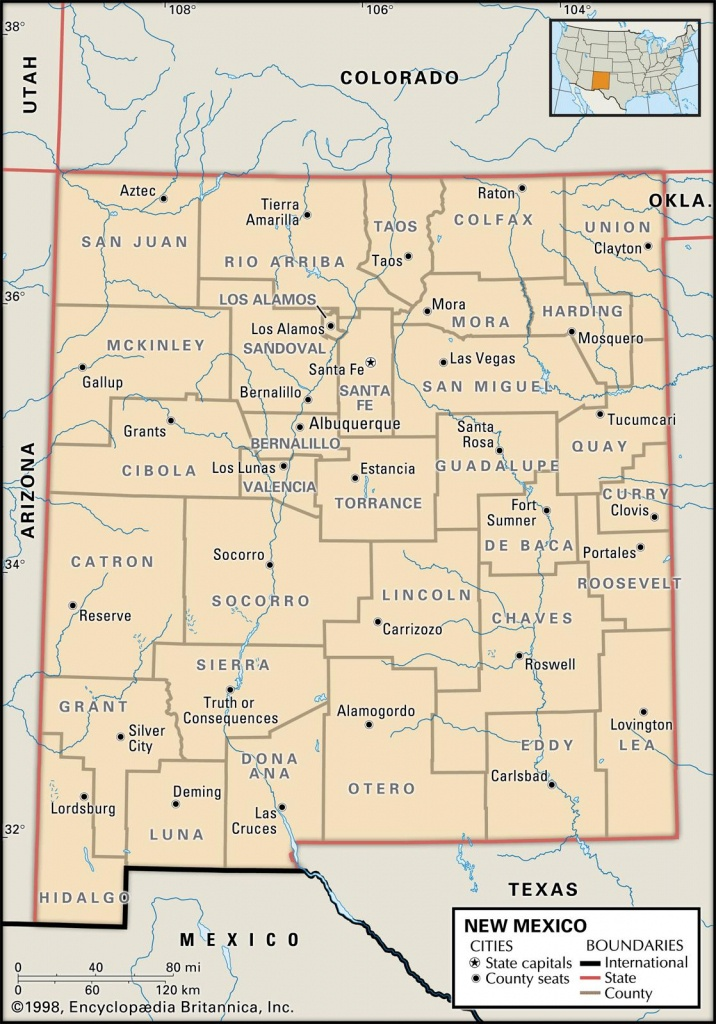 State And County Maps Of New Mexico - New Mexico State Map Printable