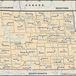 State And County Maps Of North Dakota   Printable Map Of North Dakota
