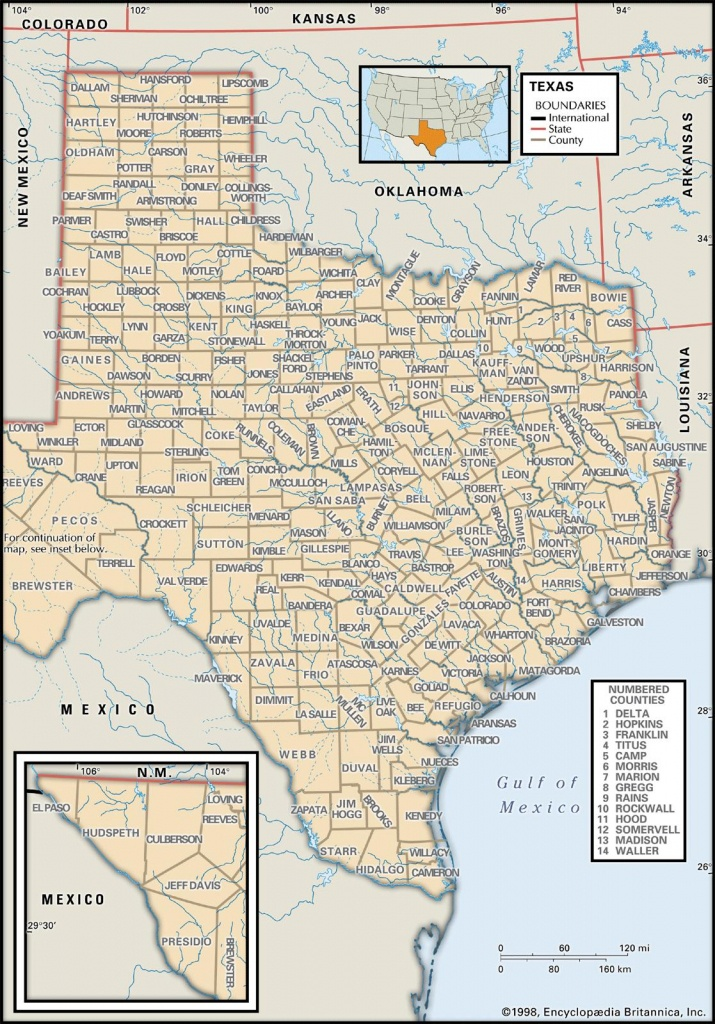 State And County Maps Of Texas - Texas Louisiana Border Map