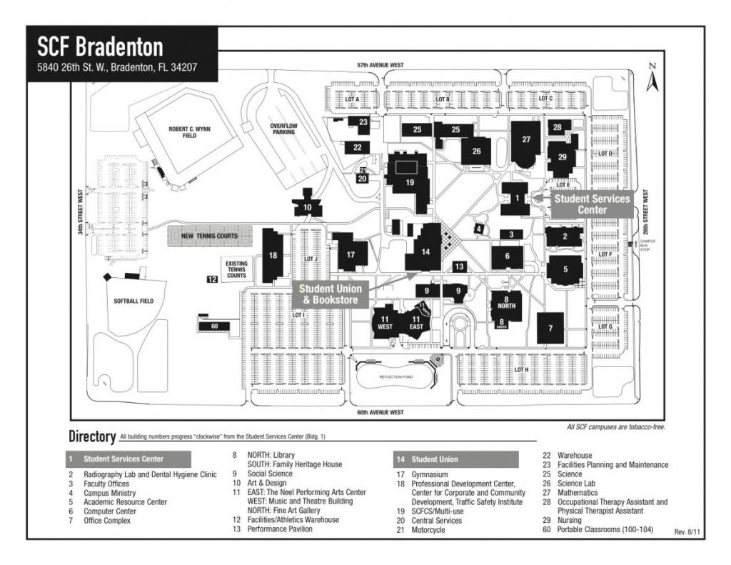 State College Of Florida, Manatee-Sarasota - State College Of - State College Of Florida Bradenton Campus Map