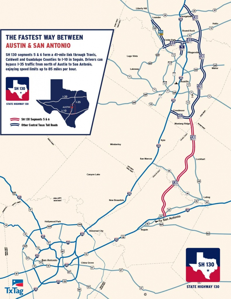 State Highway 130 Maps - Sh 130 The Fastest Way Between Austin & San - Texas Toll Roads Map