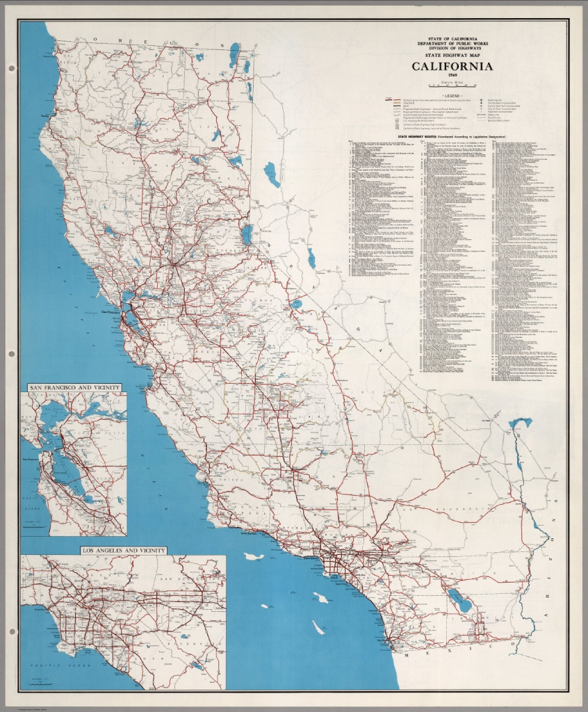 State Highway Map, California, 1960. - David Rumsey Historical Map - California Highway Map