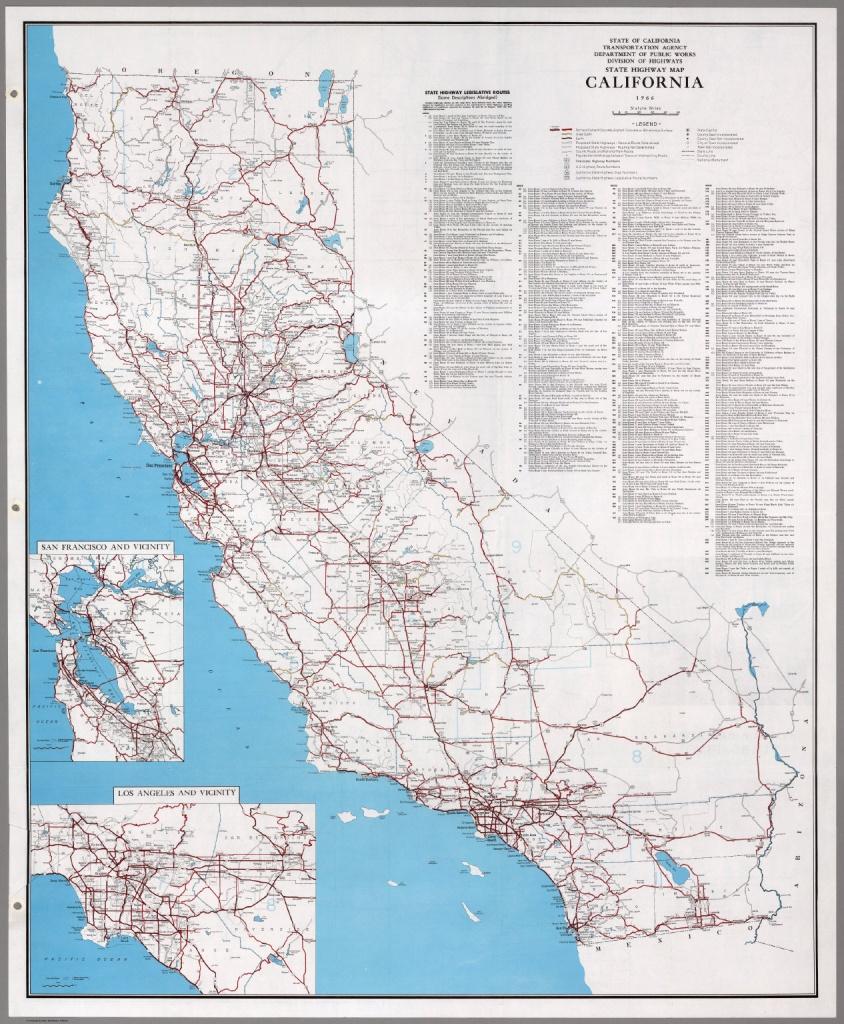 State Highway Map, California, 1966. - David Rumsey Historical Map - California State Highway Map