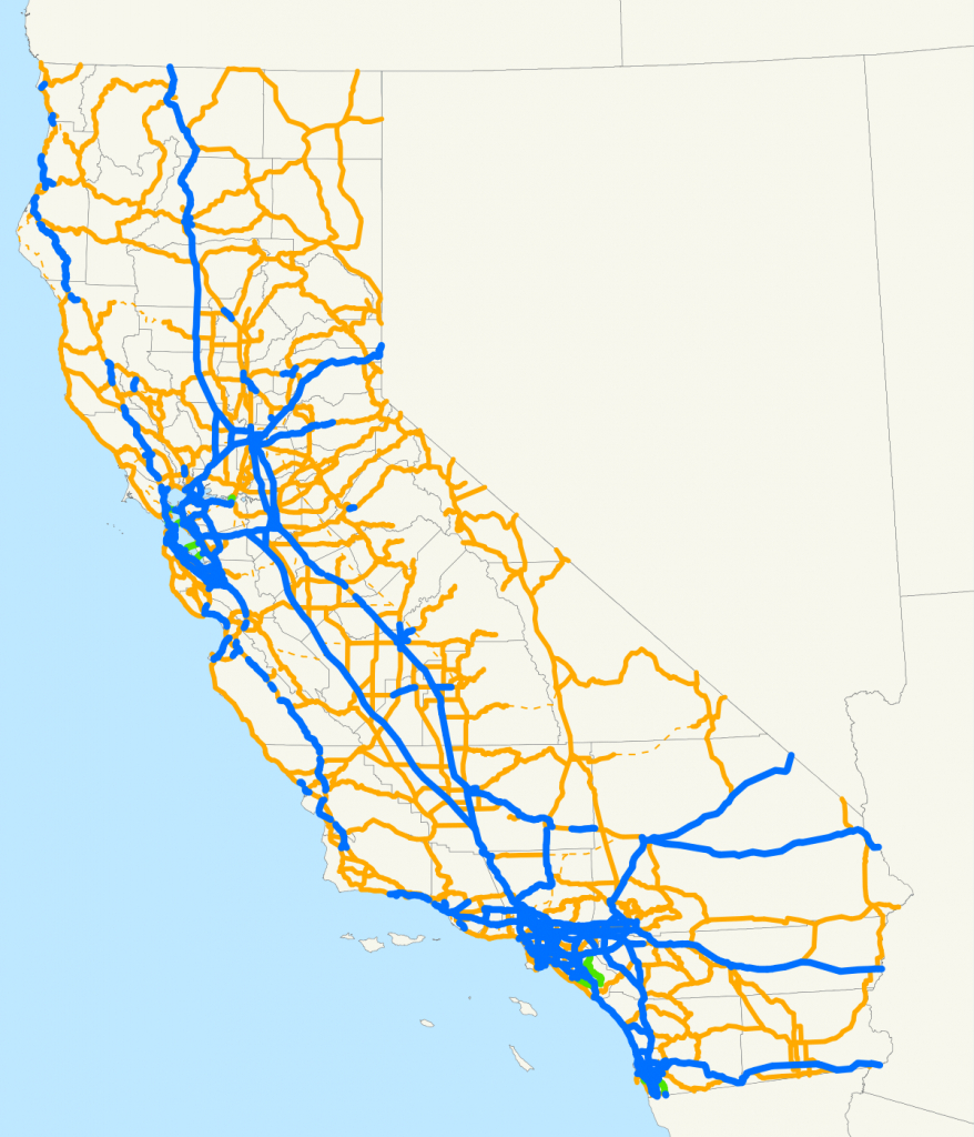 State Highways In California - Wikipedia - Route 1 California Map