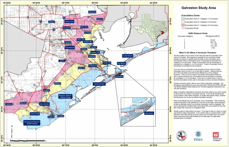 Texas Galveston Map