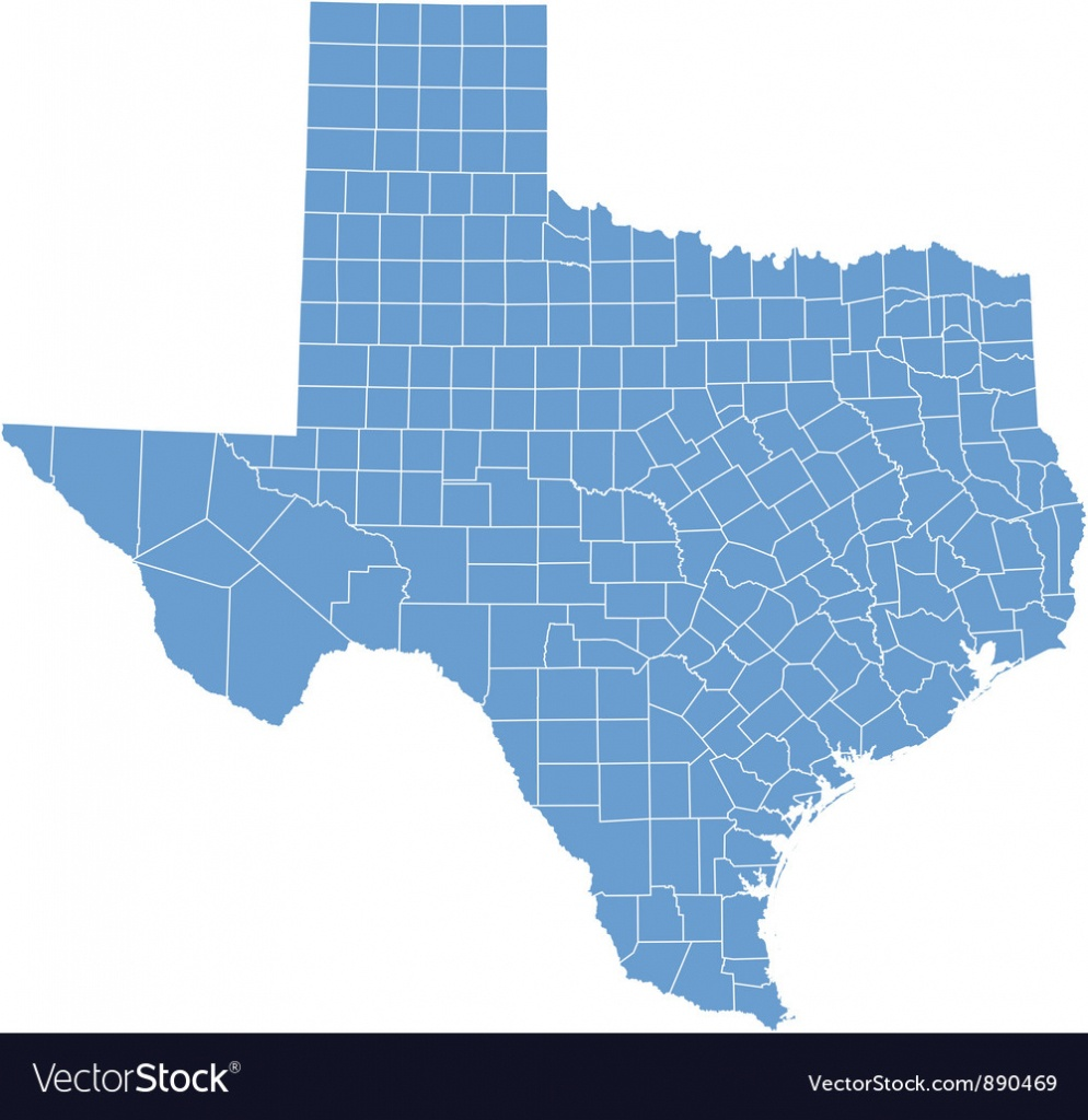 State Map Of Texascounties Royalty Free Vector Image - Free Texas State Map