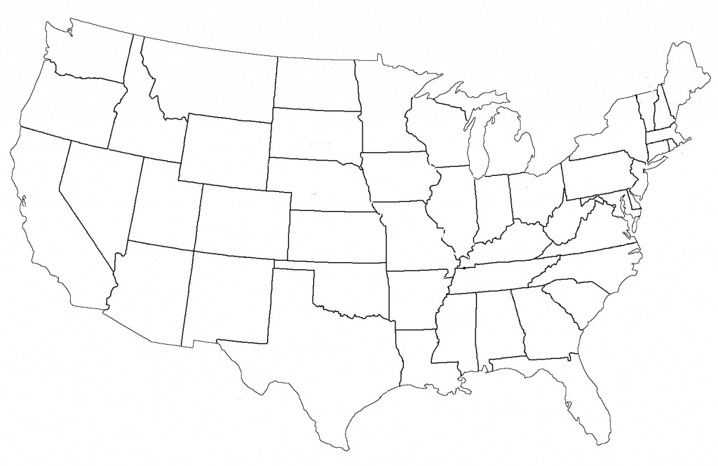 State Map Print Blank Able United States Maps Outline And Capitals - Blank Us Map With Capitals Printable