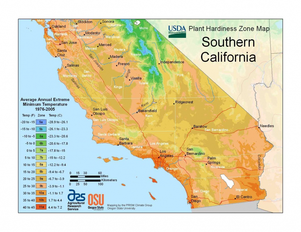 State Maps Of Usda Plant Hardiness Zones - California Zone Map
