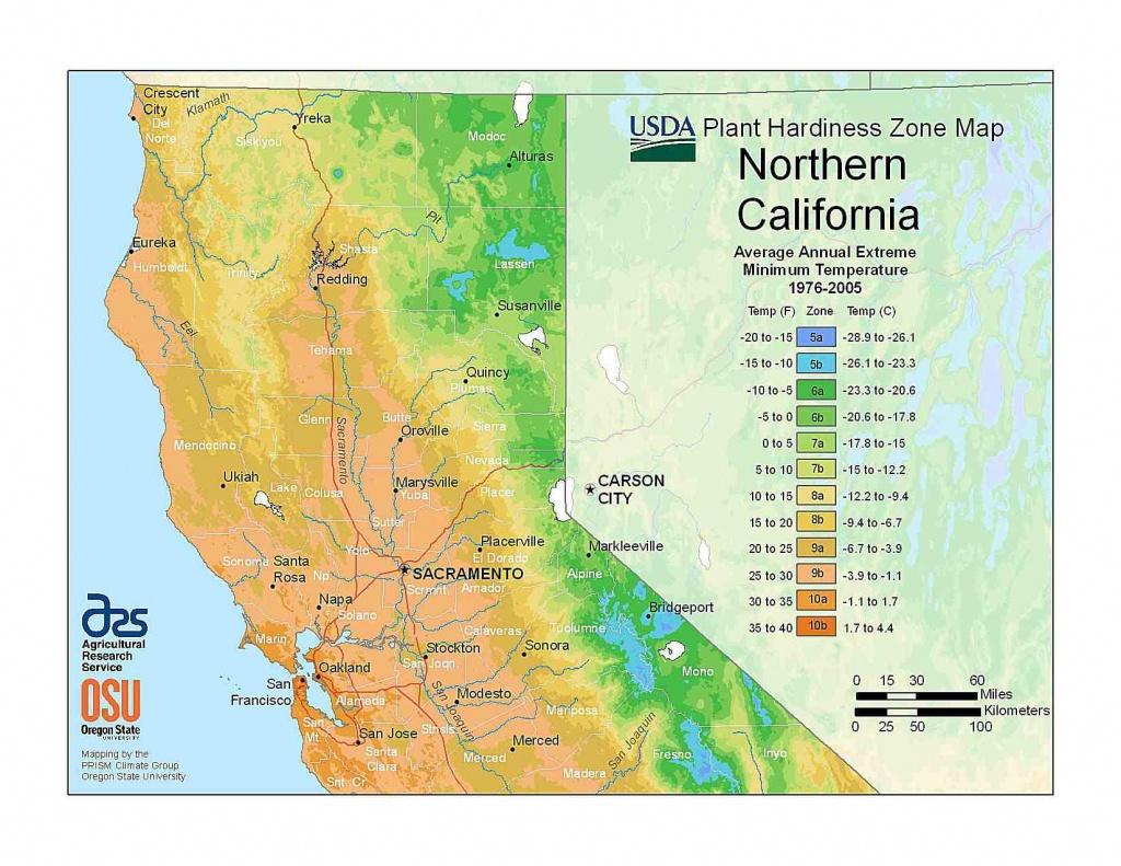State Maps Of Usda Plant Hardiness Zones - Usda Hardiness Zone Map California