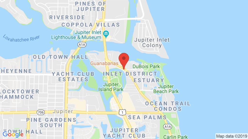 Steady Flow At Guanabana's Island Restaurant - Feb 22, 2019 - Jupiter Island Florida Map