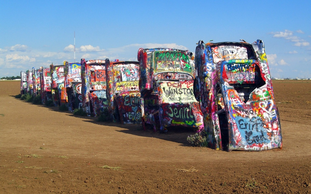 Steaks, Cadillacs, And More: The Route 66 Roadside Attractions Of - Cadillac Ranch Texas Map
