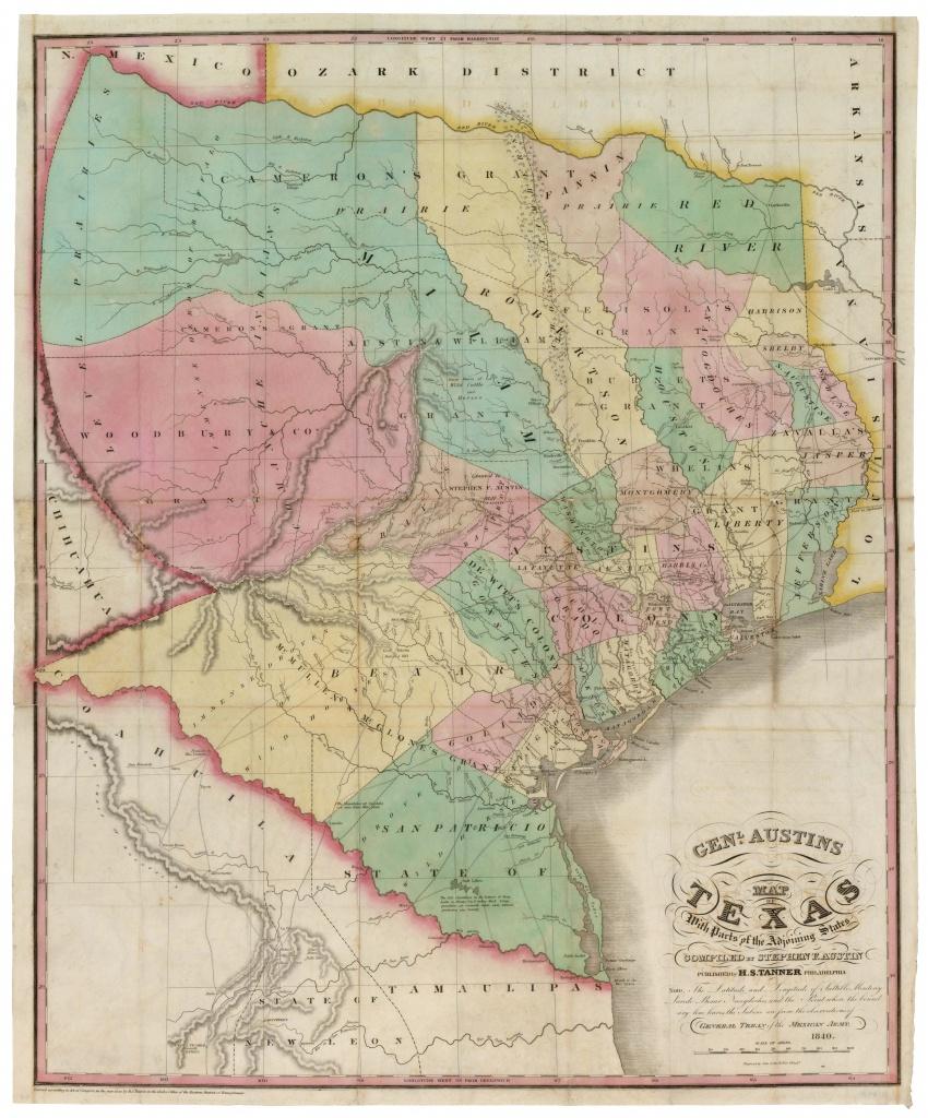 Stephen F. Austin - 1840 | Texas | Map, Austin Map, Texas History - Stephen F Austin Map Of Texas