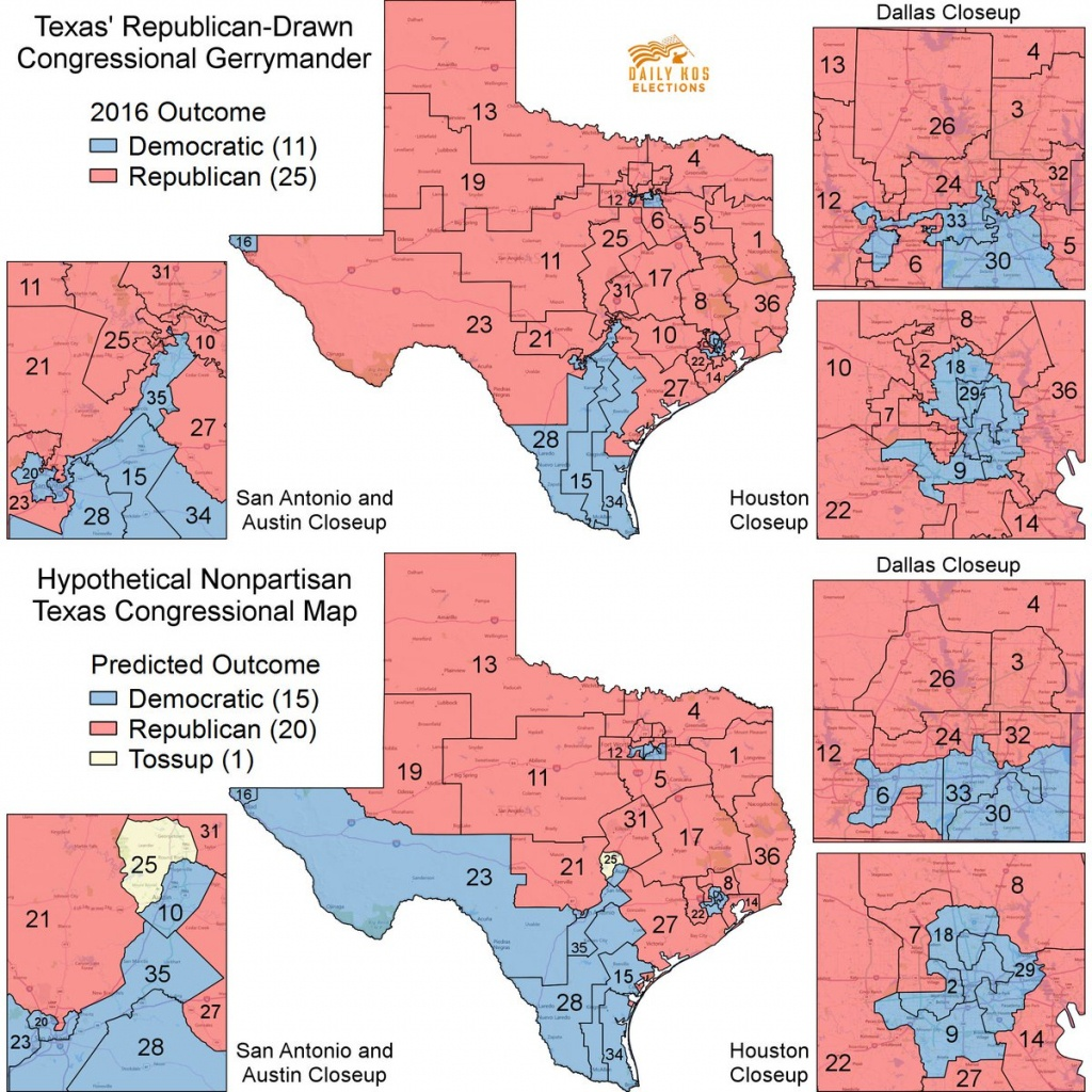 """Stephen Wolf On Twitter: """"here's What A Fully Nonpartisan Texas - Texas Congressional Map"""